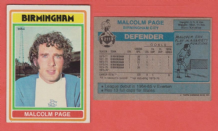 Birmingham City Malcolm Page Wales 211